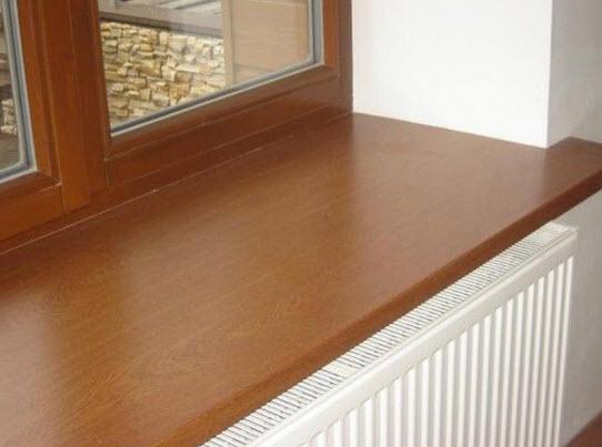 деревянный подоконник