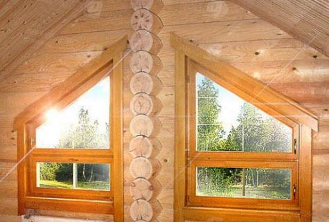 окна из лиственницы